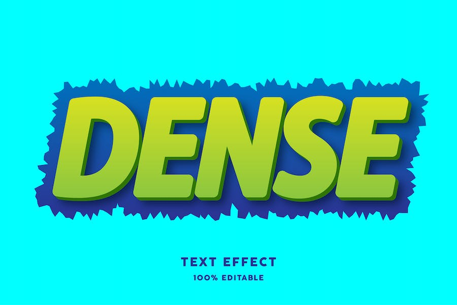 Dense text style effect