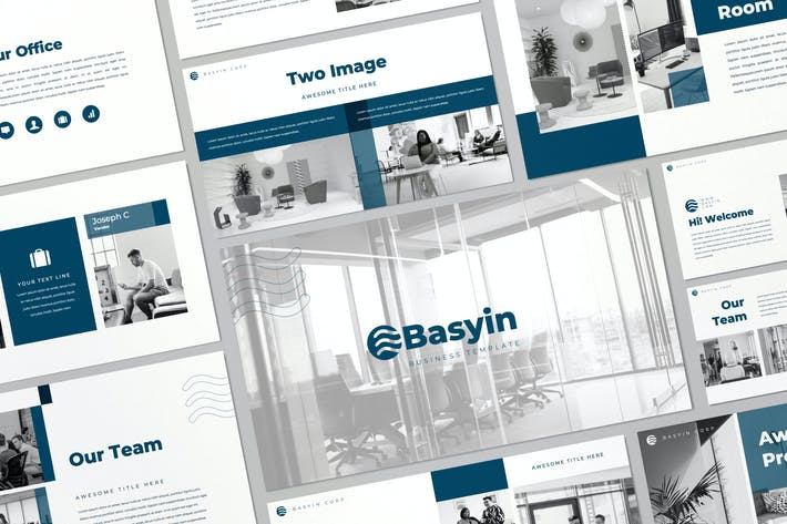 Thumbnail for Basyin - Modern Business Google Slides