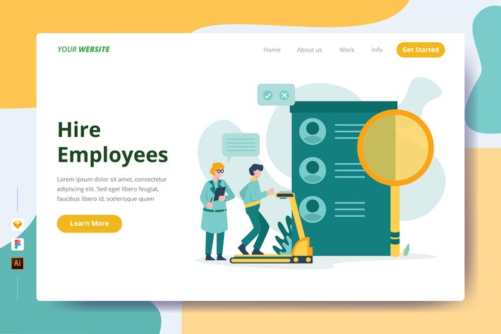Thumbnail for Hire Employees - Landing Page