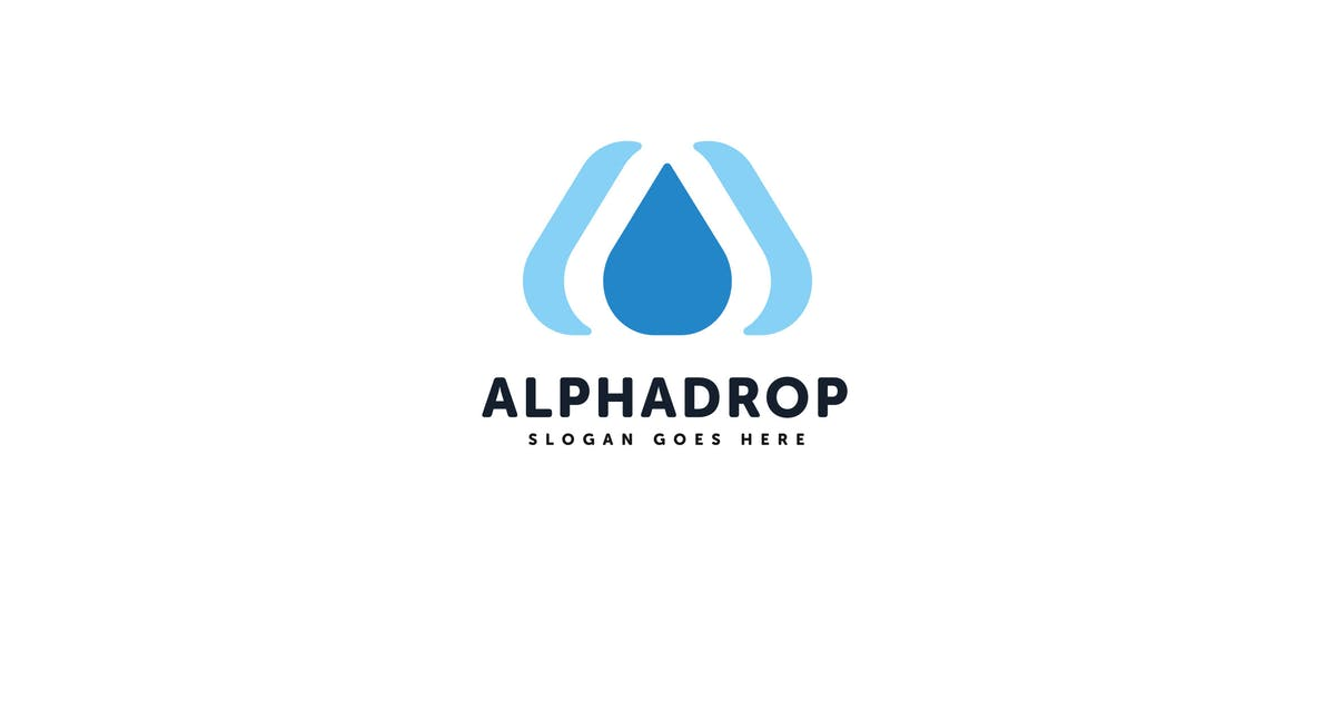 Download Alpha Drop Vector Logo Template by Pixasquare