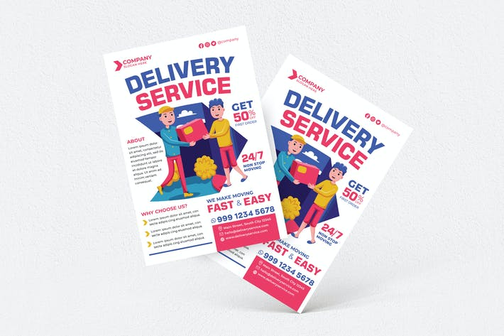 Thumbnail for Delivery Service Flyer #01