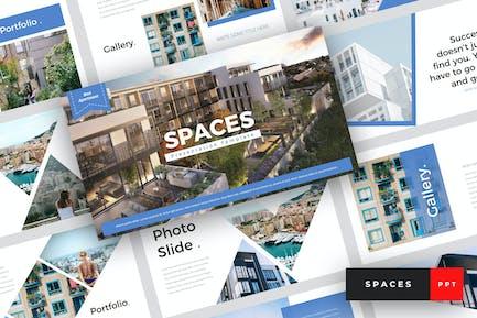 Espacios - Plantilla de PowerPoint de apartamento