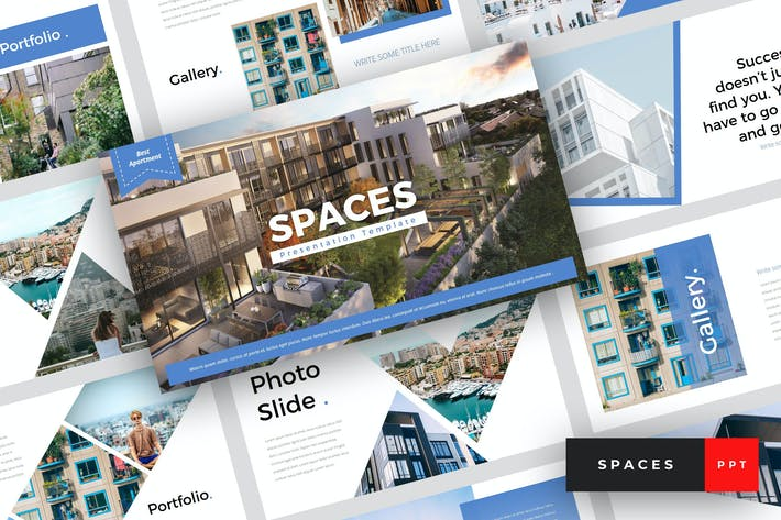Thumbnail for Spaces - Apartment PowerPoint Template
