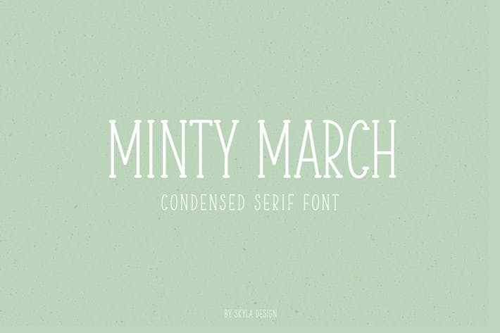 Thumbnail for Minty March, Condensed serif font