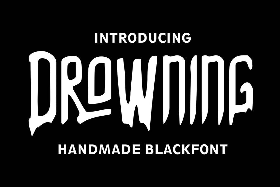 DROWNING Font