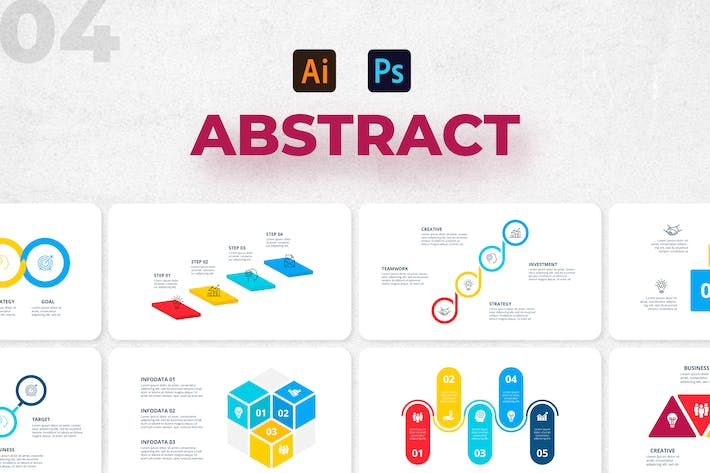Abstract Infographics Set. Part 04