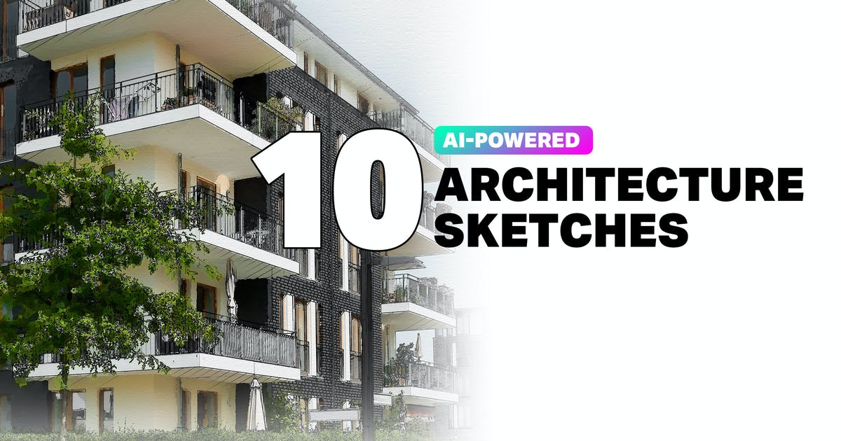 Download 10 AI Architecture Sketch Photoshop Actions by sparklestock