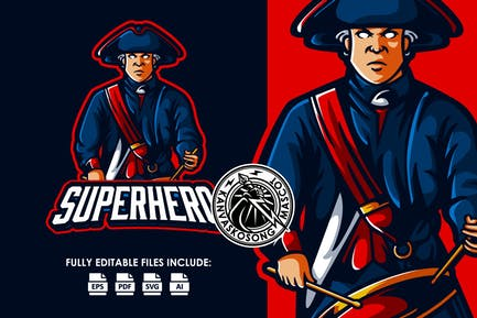 Patriot Hero Logo Template