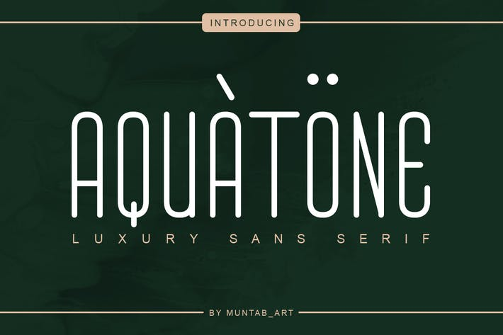 Thumbnail for Aquatone | Luxury Sans