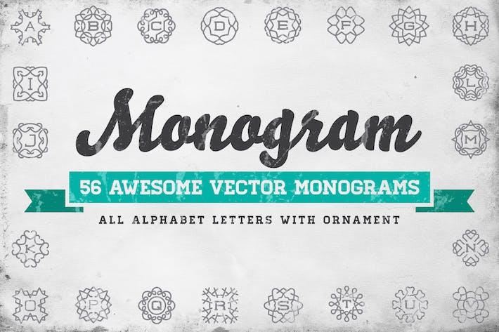 Thumbnail for Monogram – 56 Vector Monograms