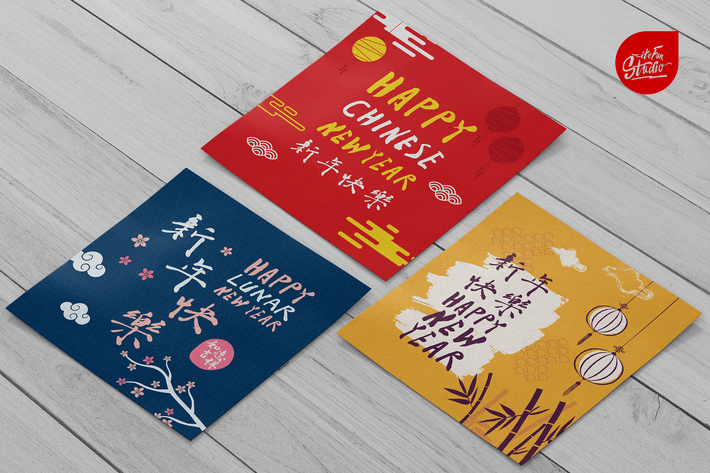 Thumbnail for Año Novedad chino escrito a mano en caracteres chinos