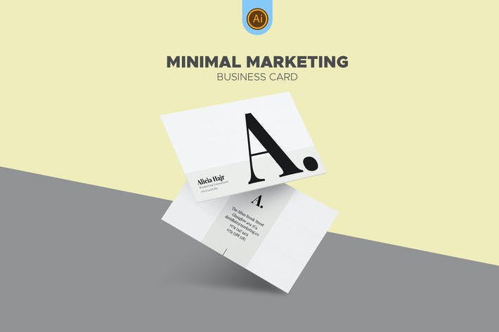 Thumbnail for Clean Marketing Consultant Business Card