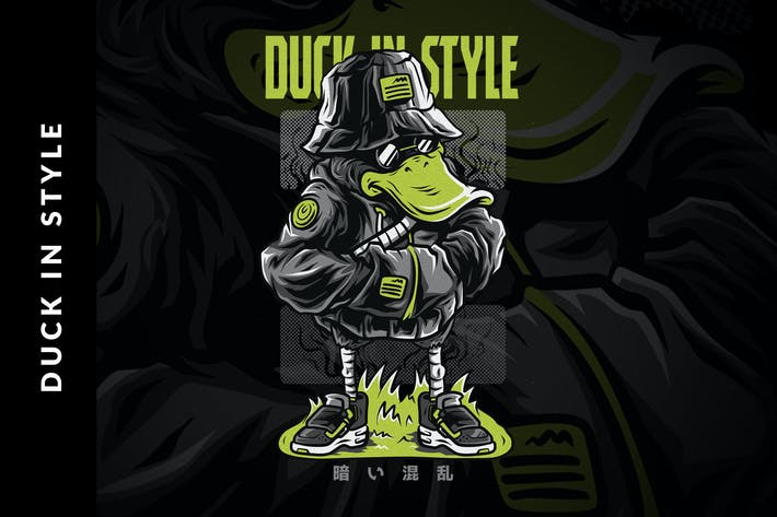 Thumbnail for Duck in Style T-Shirt Design