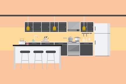 Küche - Illustration Hintergrund