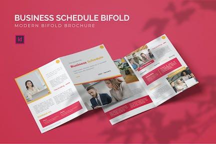 Business Schedule - Bifold Brochure
