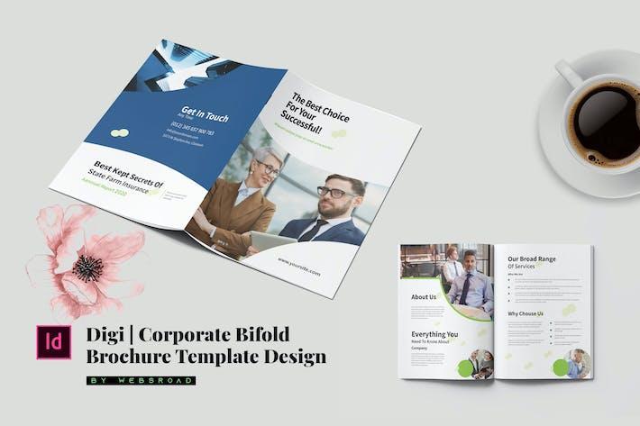 Thumbnail for Digi | Entreprise Bifold Brochure Design Modèle