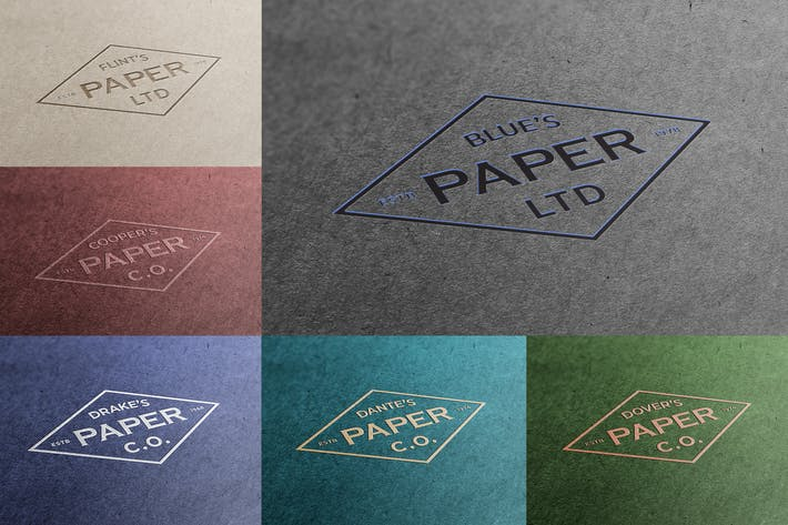 Thumbnail for Exclusive Paper Logo Mockups