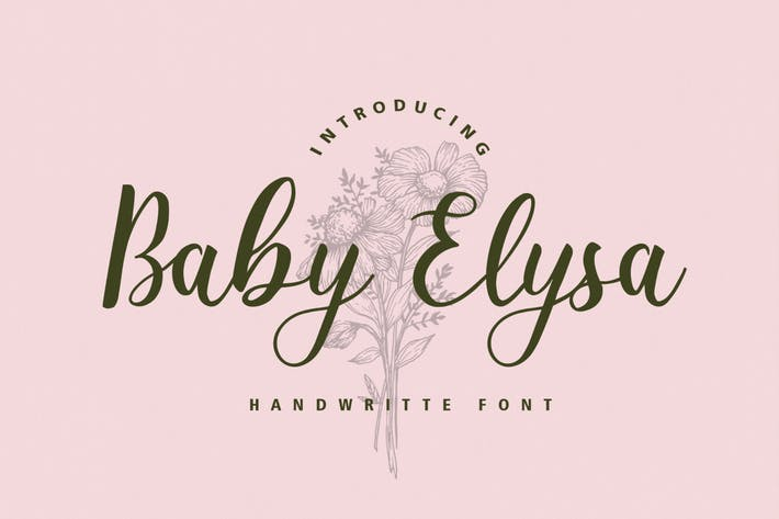 Thumbnail for Baby Elysa Wedding Font