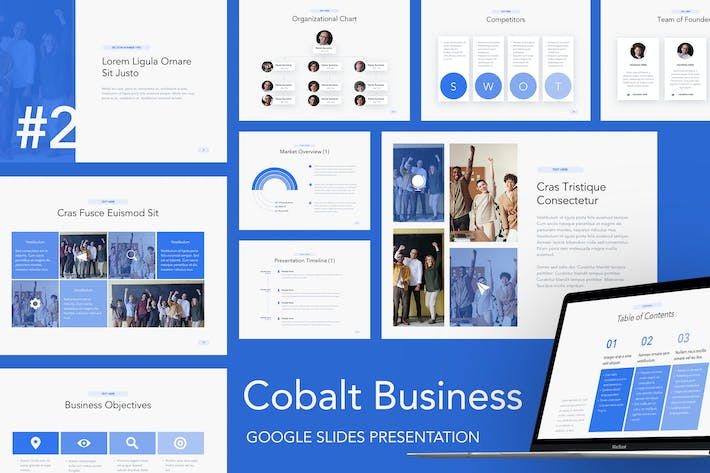 Thumbnail for Cobalt Business Google Slides Template