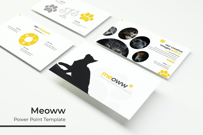 Thumbnail for Meoww - Powerpoint Template