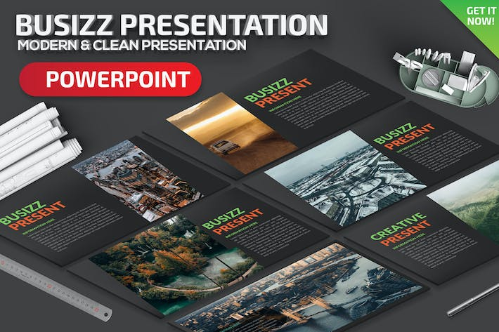 Thumbnail for Busizz Powerpoint Presentation Template