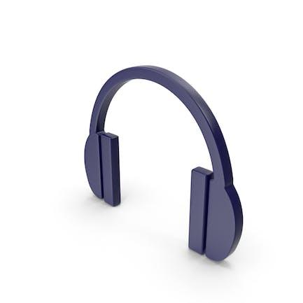 Headphones Icon Dark Blue