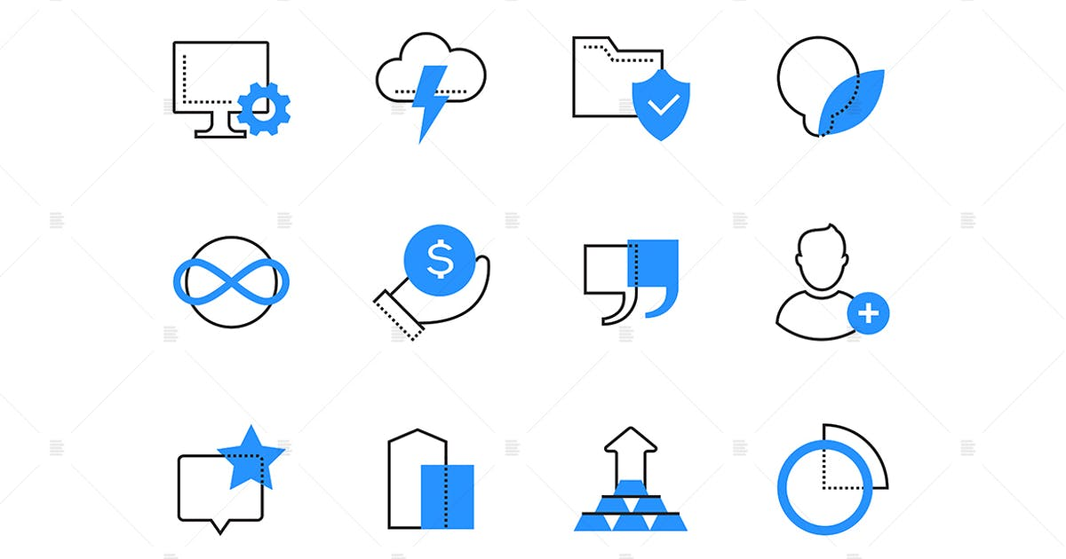 Download Finances and technology color icons set by BoykoPictures