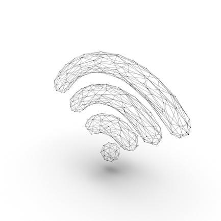 Рамка провода с символом Wifi