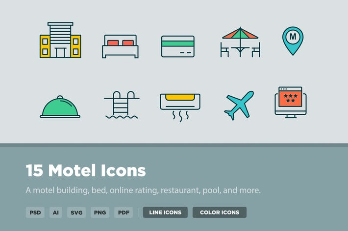 Cover Image For 15 Motel Icons