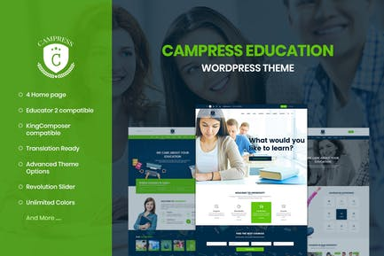 Campress - Education, Courses WordPress Theme