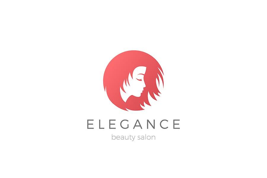Woman Girl Beauty Salon Logo