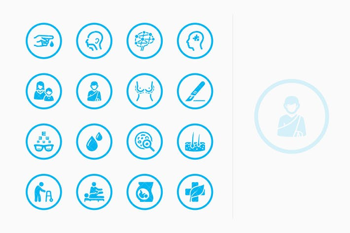 Thumbnail for Medical Specialties Icons Set 2 - Blue Circles