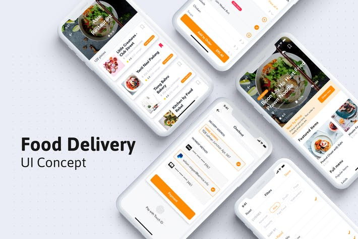 Thumbnail for Restaurant and Food Mobile UI kit for Sketch
