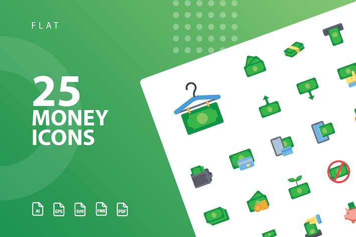 Cover Image For Money Flat Icons