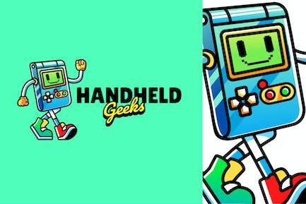 handheld gaming - Mascot Logo