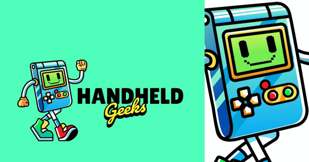Download handheld gaming - Mascot Logo by aqrstudio