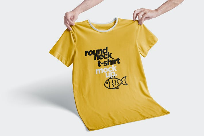 Thumbnail for Round-Neck T-Shirt Mockups