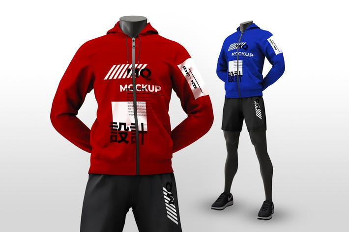 Thumbnail for Male Mannequin Mockups Hoodie - Standing Pose
