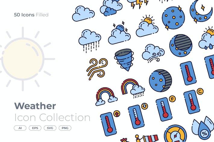 Wetter gefülltes Symbol
