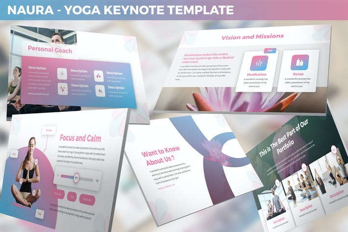 Thumbnail for Naura - Yoga Keynote Template
