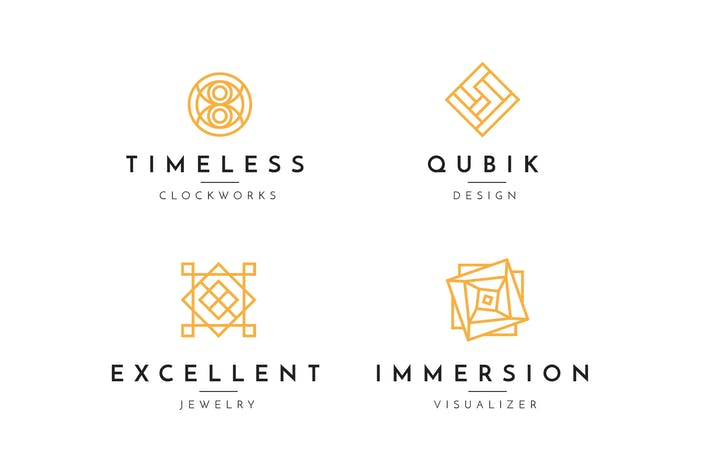 Thumbnail for Minimal Geometric Logo Collection