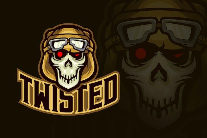 Thumbnail for Evil Twisted Pilot Skull Esport Logo