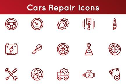 Cars Repair Icons
