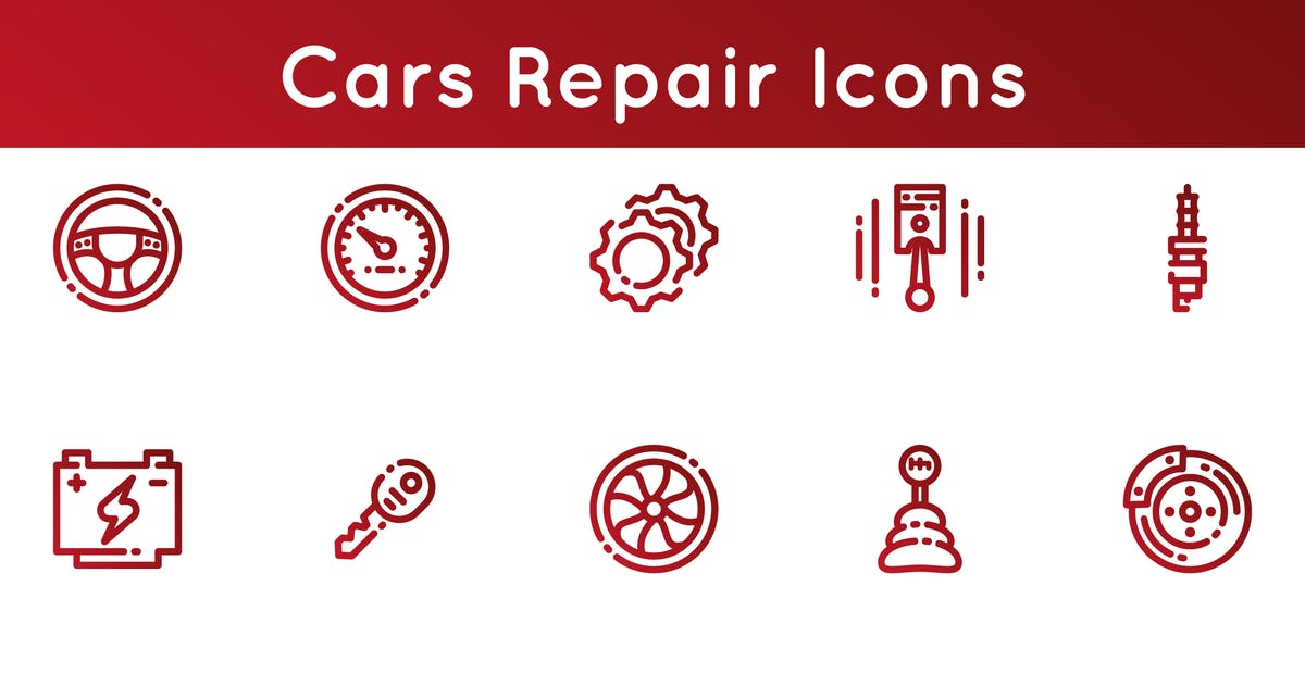 Download Cars Repair Icons by Unknow
