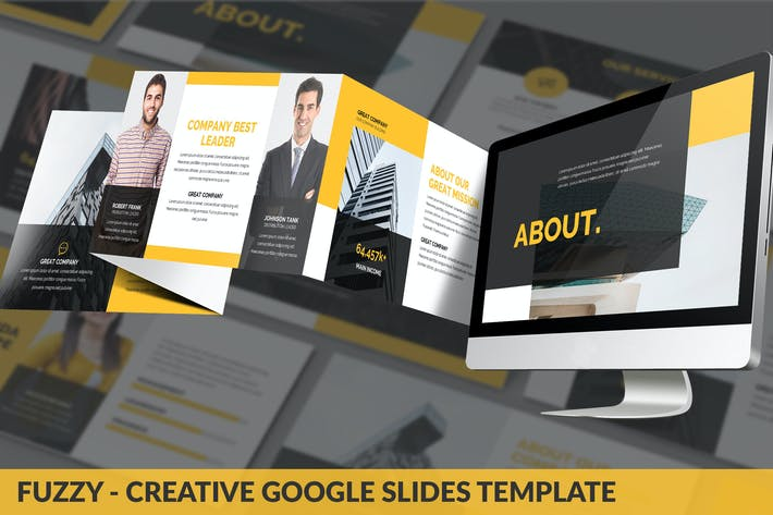 Thumbnail for Fuzzy - Creative Google Slides Template