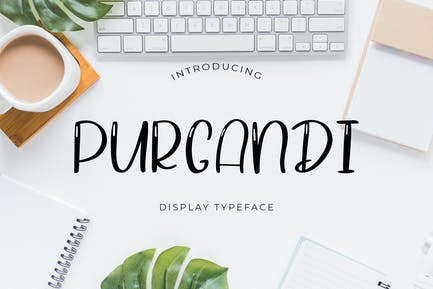 Purgandi Display Font