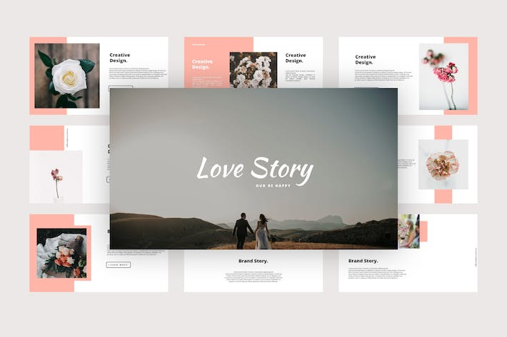 Love Story - Wedding Google Slides Template