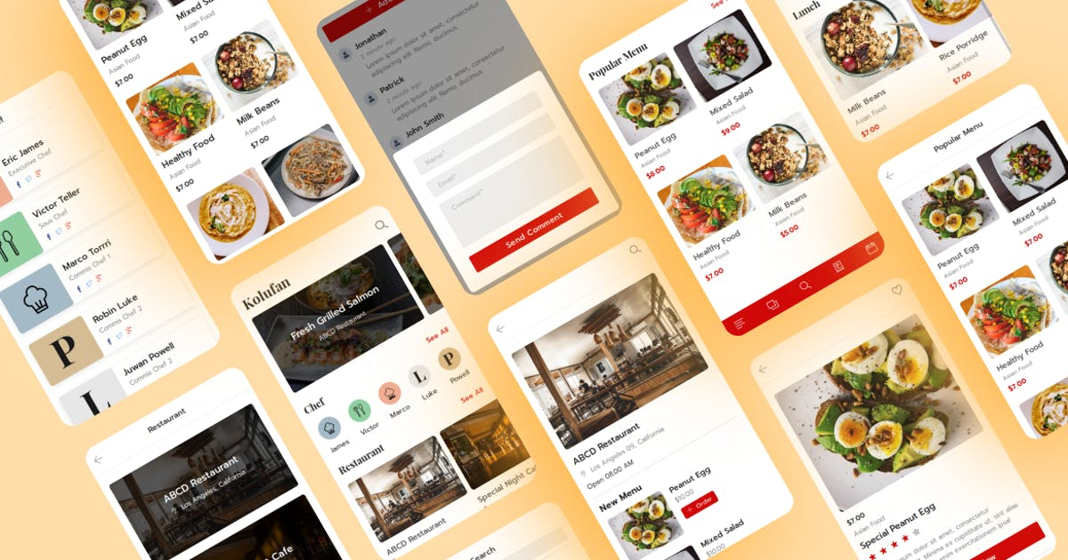Download Kolufan - Food and Restaurant Mobile Template by aStylers