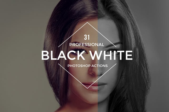 Thumbnail for Black White Photoshop Actions