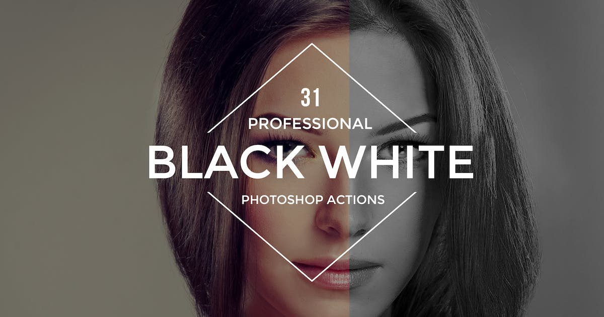 Black White Photoshop Actions by Artmonk